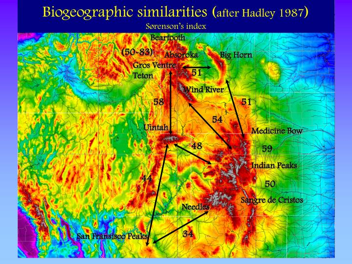 Biogeographic similarities (