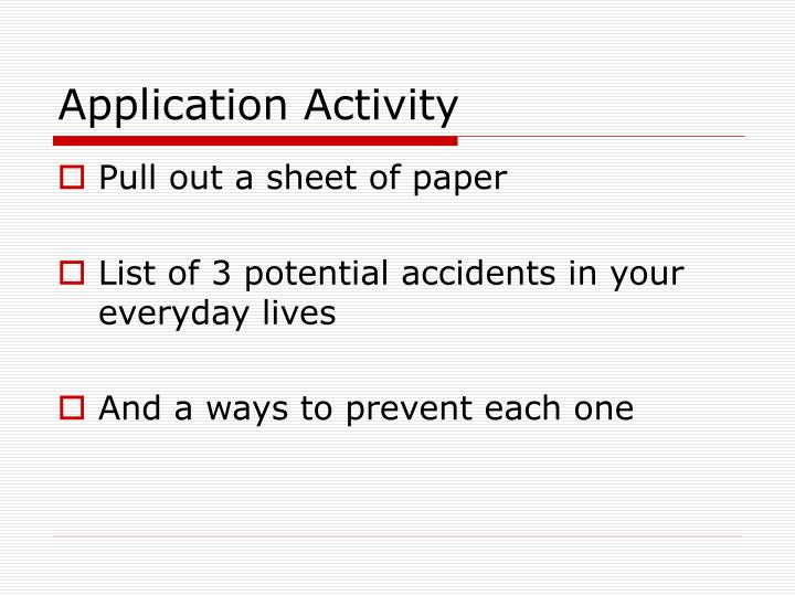 Application Activity