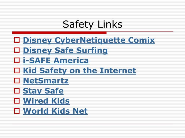 Safety Links