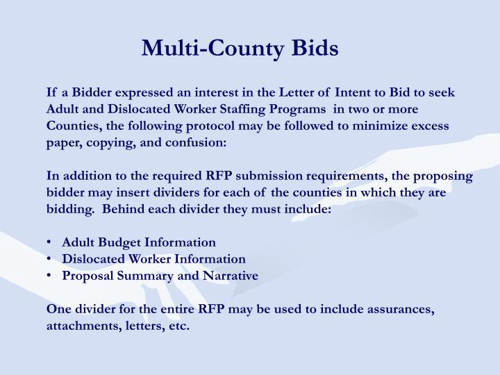 Multi-County Bids