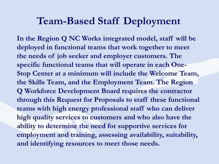 Team-Based Staff Deployment