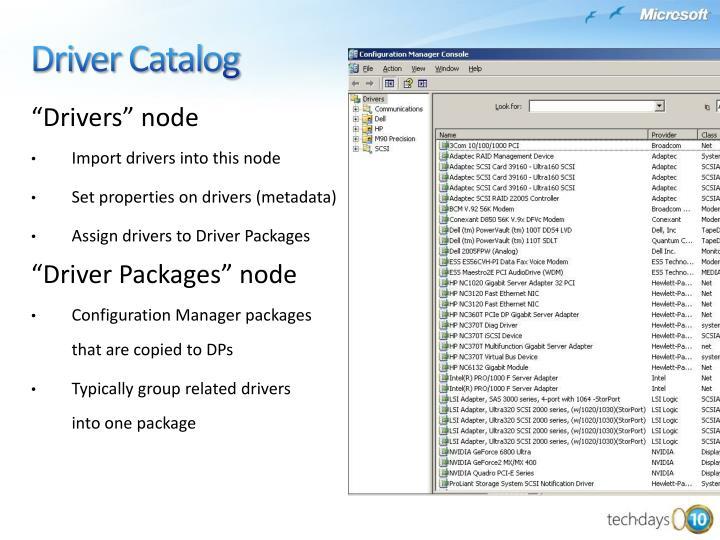 """Drivers"" node"