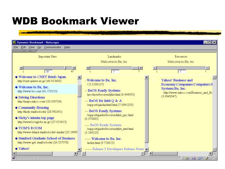 WDB Bookmark Viewer