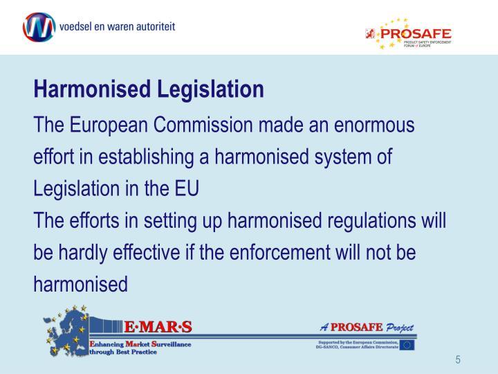 Harmonised Legislation