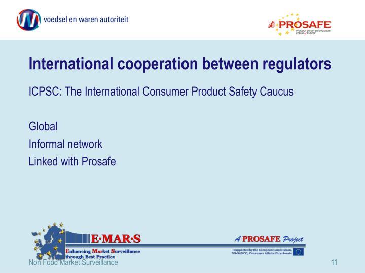 International cooperation between regulators