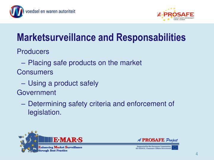 Marketsurveillance and Responsabilities