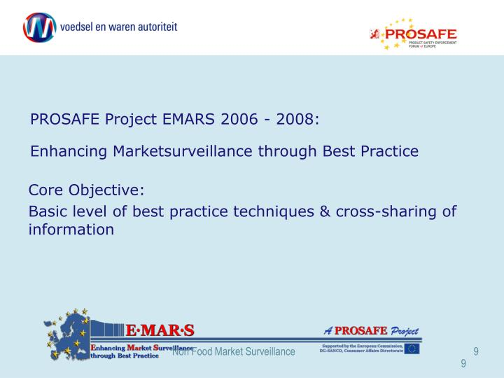 PROSAFE Project EMARS 2006 - 2008: