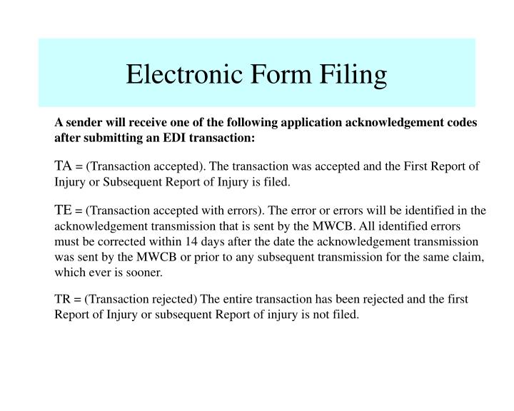 Electronic Form Filing