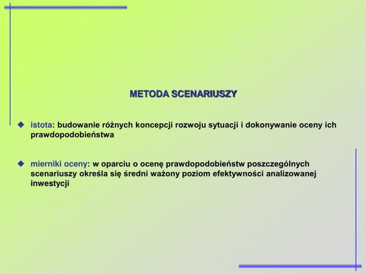 METODA SCENARIUSZY