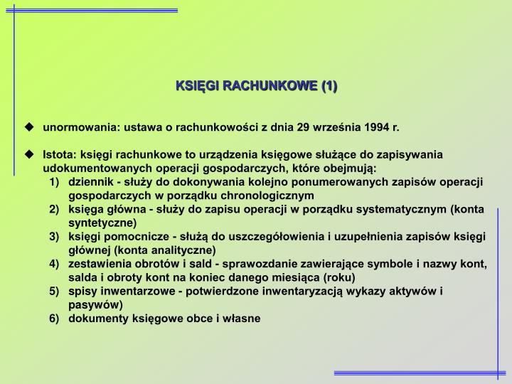 KSIĘGI RACHUNKOWE (1)