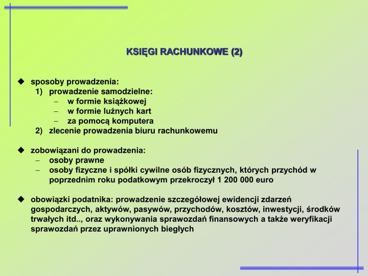 KSIĘGI RACHUNKOWE (2)