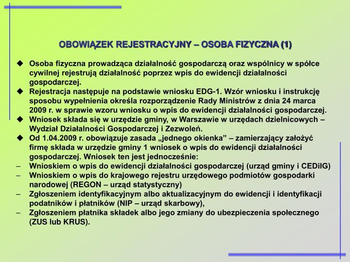 OBOWIĄZEK REJESTRACYJNY – OSOBA FIZYCZNA (1)