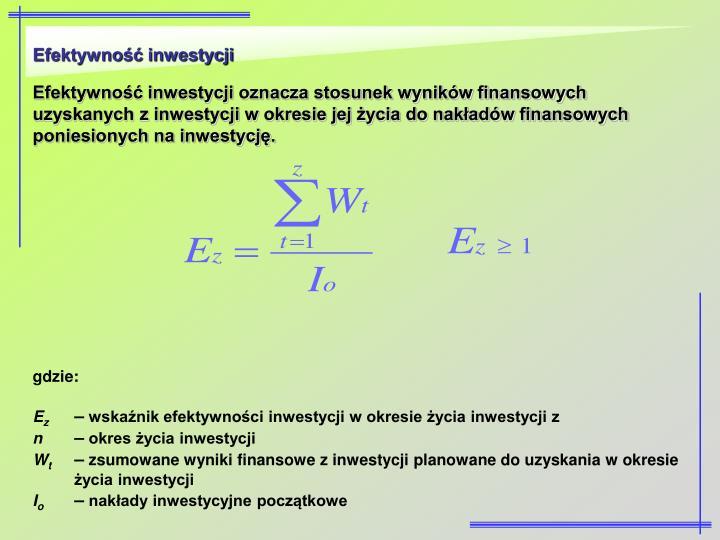 Efektywność inwestycji