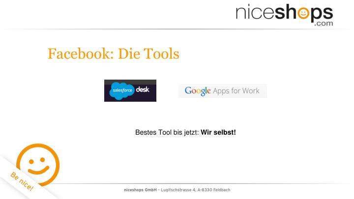 Facebook: Die Tools