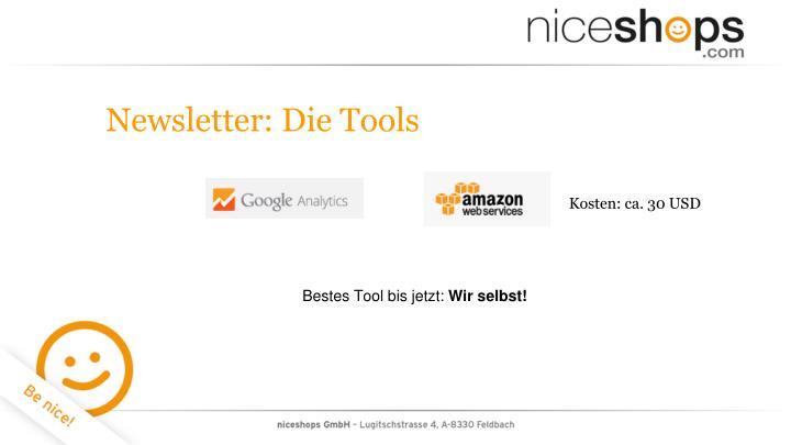 Newsletter: Die Tools