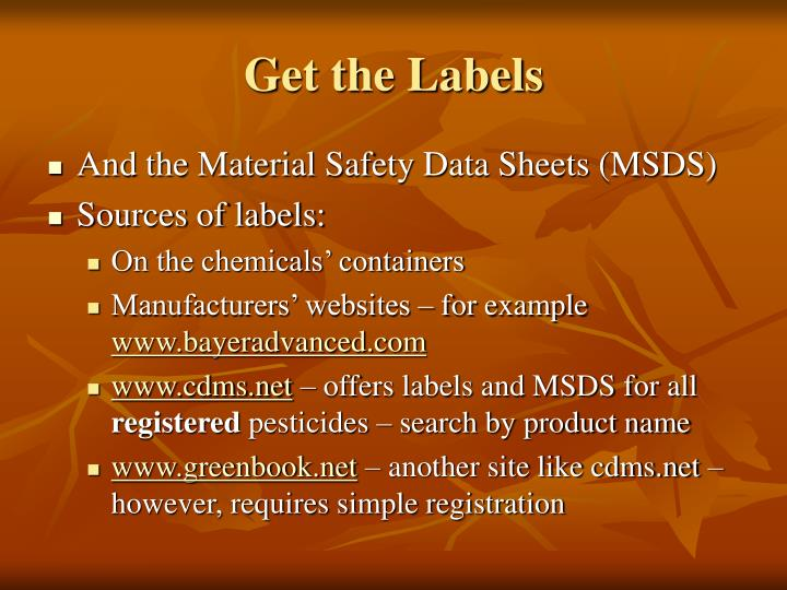 Get the Labels