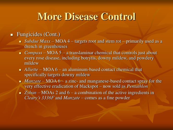 More Disease Control