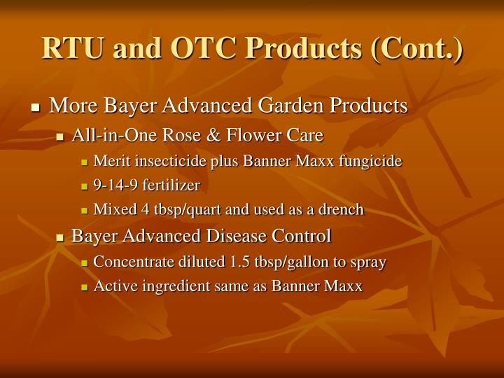 RTU and OTC Products (Cont.)