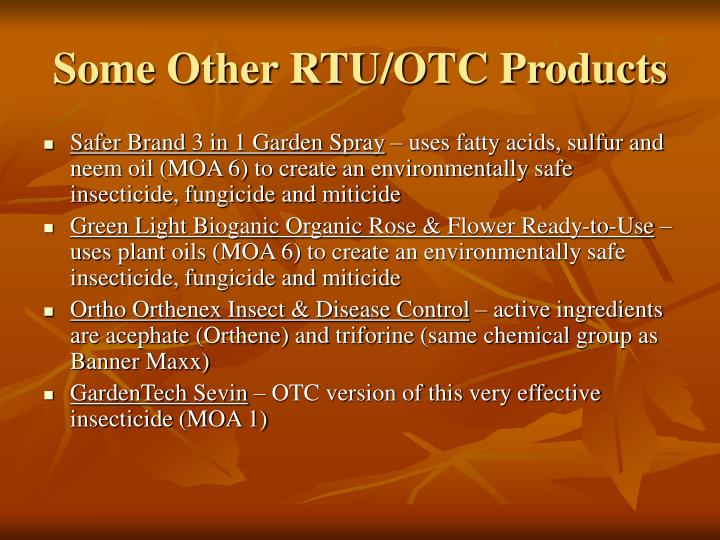 Some Other RTU/OTC Products