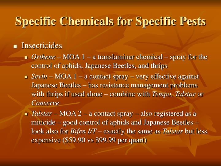 Specific Chemicals for Specific Pests