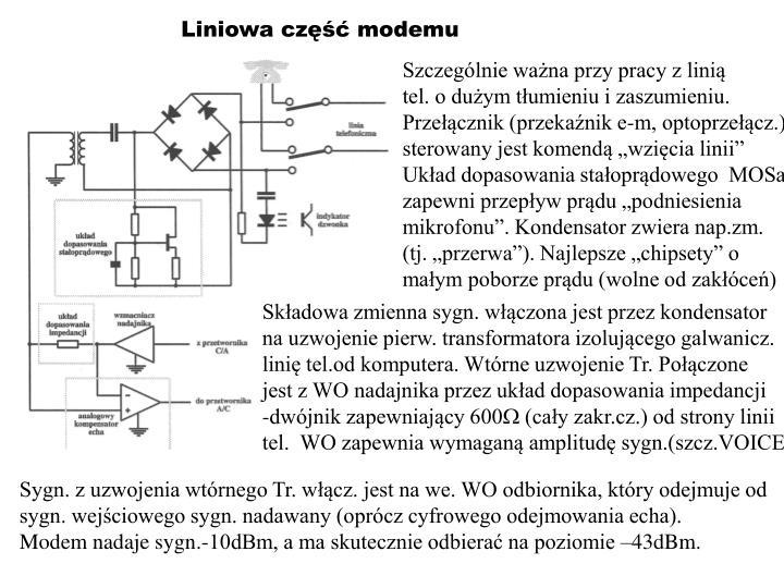 Liniowa część modemu
