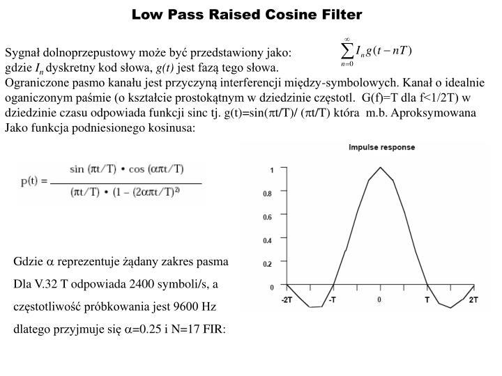 Low Pass Raised Cosine Filter