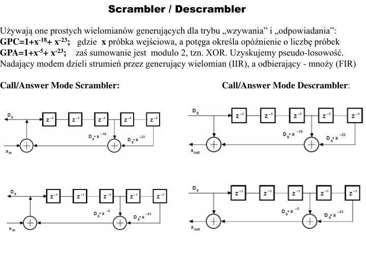 """Używają one prostych wielomianów generujących dla trybu """"wzywania"""" i """"odpowiadania"""":"""