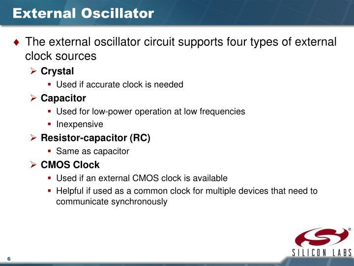 External Oscillator