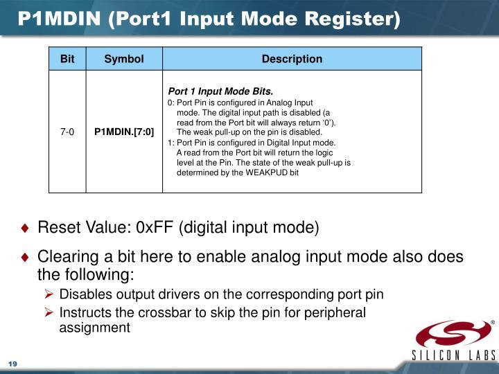 P1MDIN (Port1 Input Mode Register)
