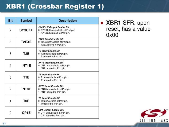 XBR1 (Crossbar Register 1)