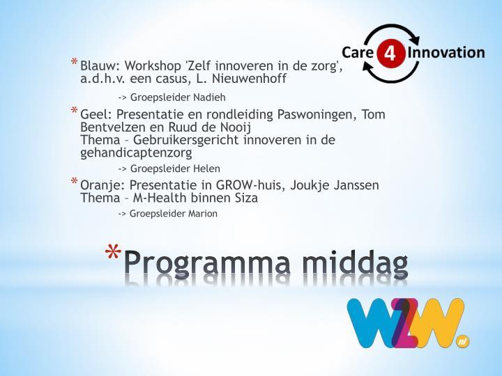 Blauw: Workshop