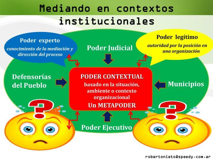 Mediando en contextos institucionales