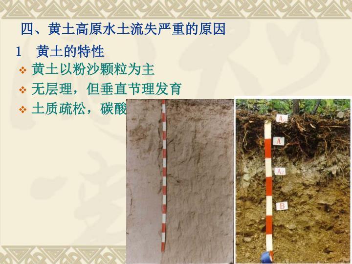 四、黄土高原水土流失严重的原因