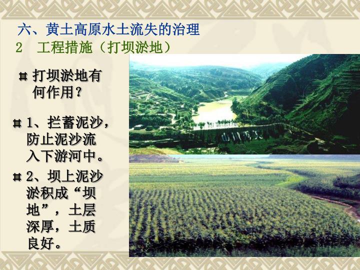 六、黄土高原水土流失的治理