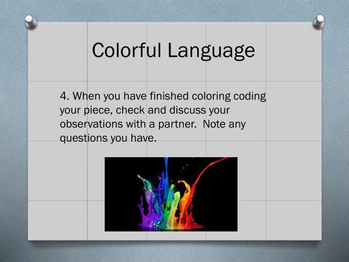 Colorful Language