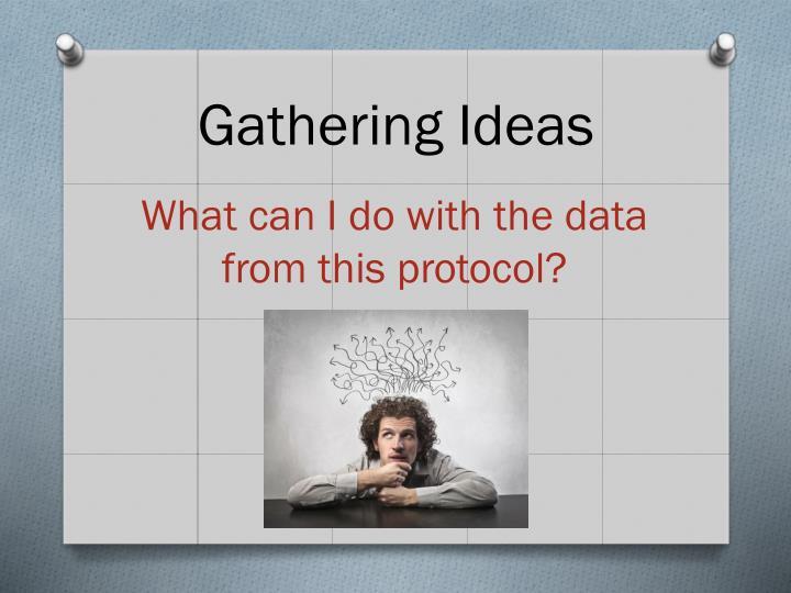 Gathering Ideas