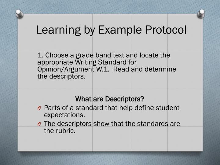 Learning by Example Protocol