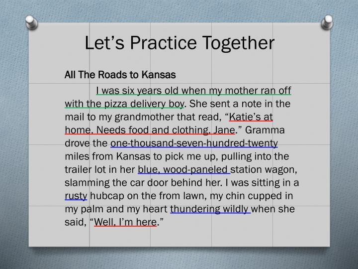 Let's Practice Together