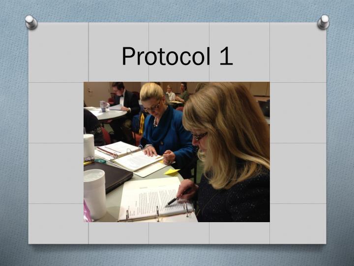 Protocol 1
