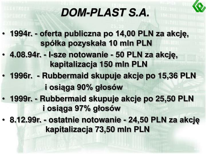 DOM-PLAST S.A.