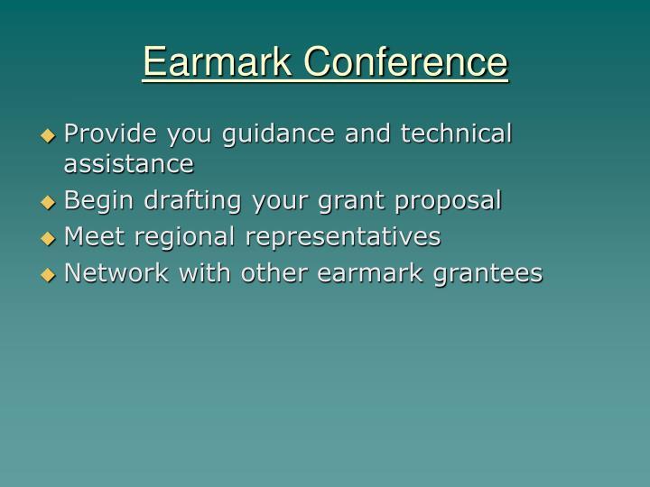 Earmark Conference