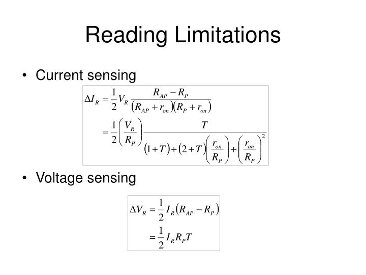 Reading Limitations