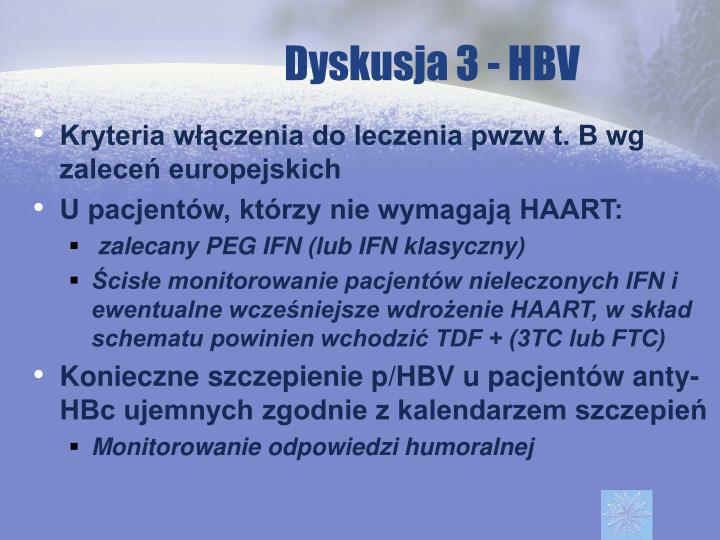 Dyskusja 3 - HBV