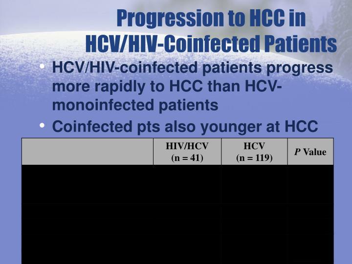 Progression to HCC in