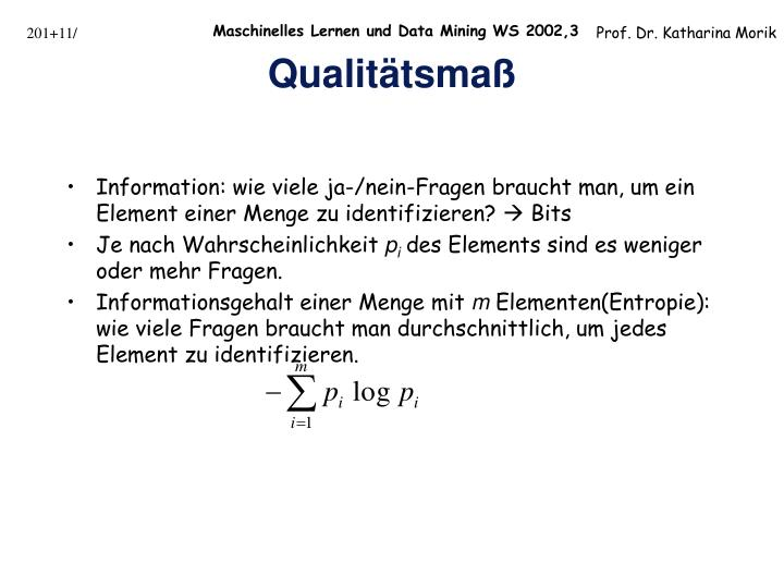 Information: wie viele ja-/nein-Fragen braucht man, um ein Element einer Menge zu identifizieren?