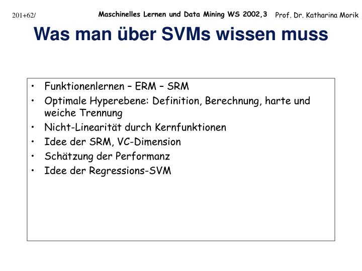 Funktionenlernen – ERM – SRM