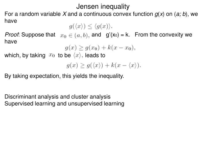 Jensen inequality
