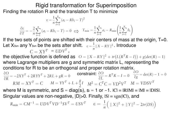 Rigid transformation for Superimposition