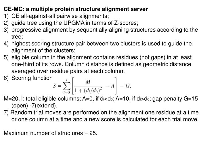 CE-MC: a multiple protein structure alignment server