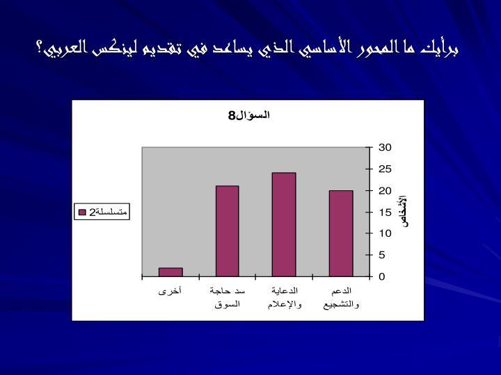 برأيك ما المحور الأساسي الذي يساعد في تقديم لينكس العربي؟